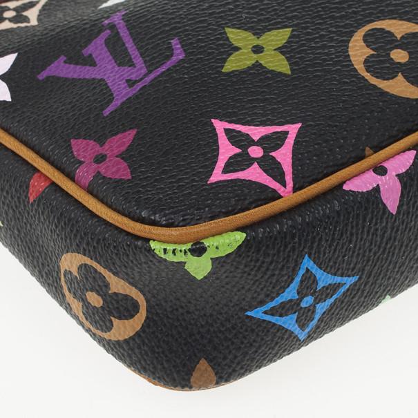 Louis Vuitton Black Multicolore Pochette Accessoires