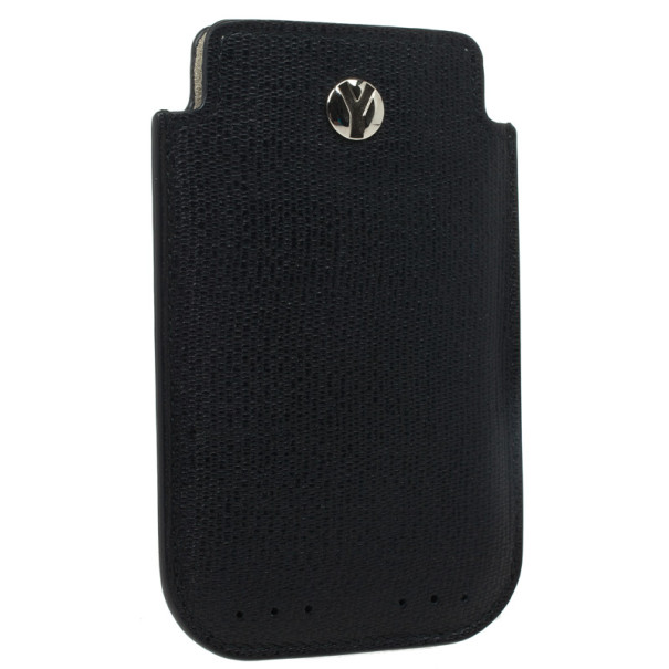 Yves Saint Laurent Black Leather Ycon iPhone Cover