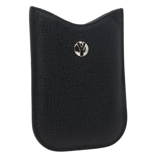Yves Saint Laurent Black Leather Ycon Blackberry Cover