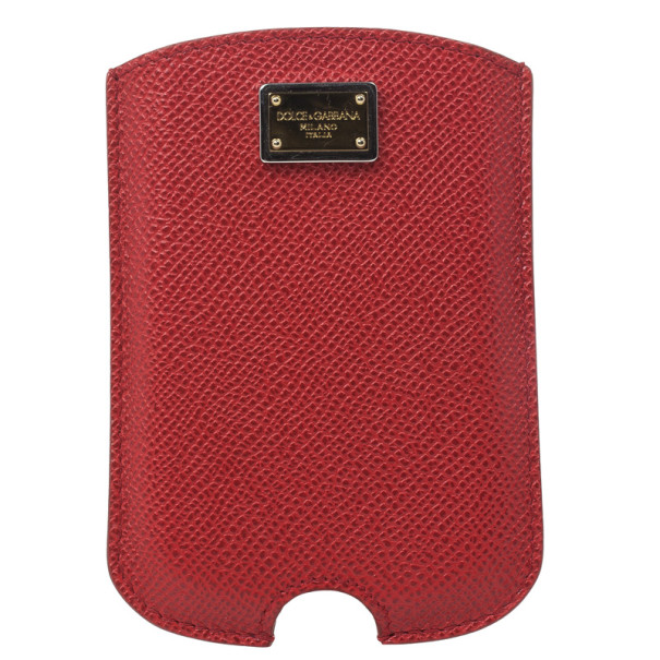 Dolce and Gabbana Red Leather Blackberry Cover