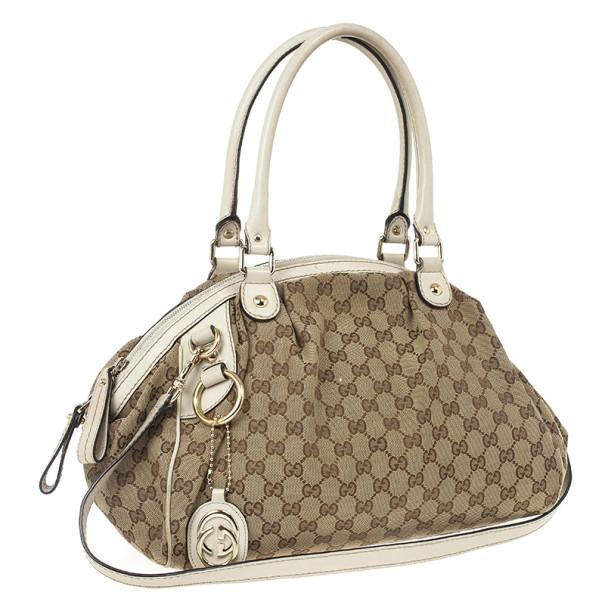Gucci Monogram Canvas Sukey Dome Bag