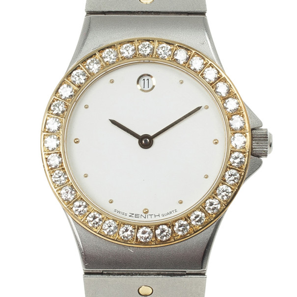 Zenith Pacific Stainless Steel and Diamond Womens Watch 26 MM