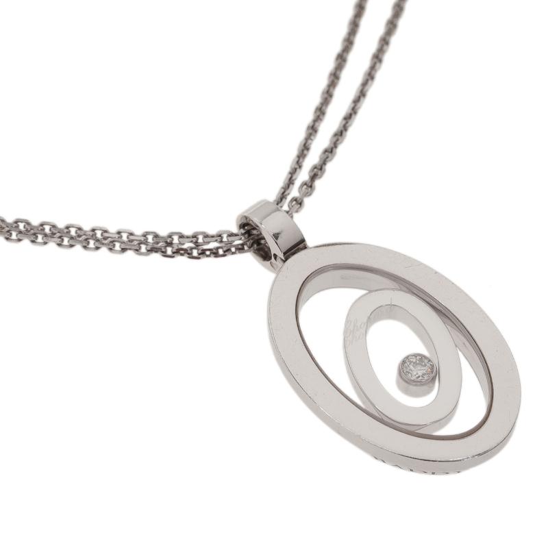Chopard Happy Spirit Diamond White Gold Pendant Necklace