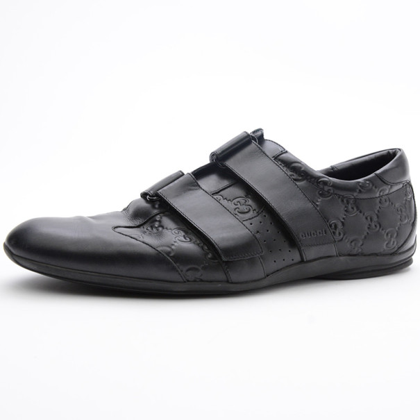 Gucci Black GG Double Velcro Sneakers Size 44