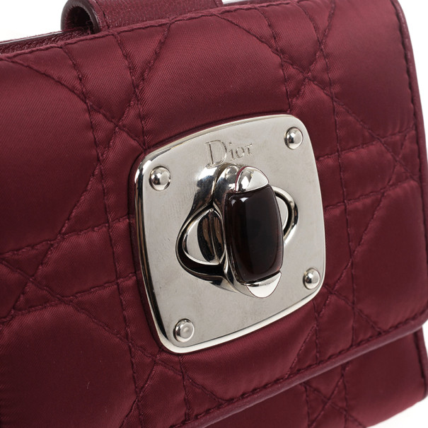 Dior Red Charming Lock Compact Wallet