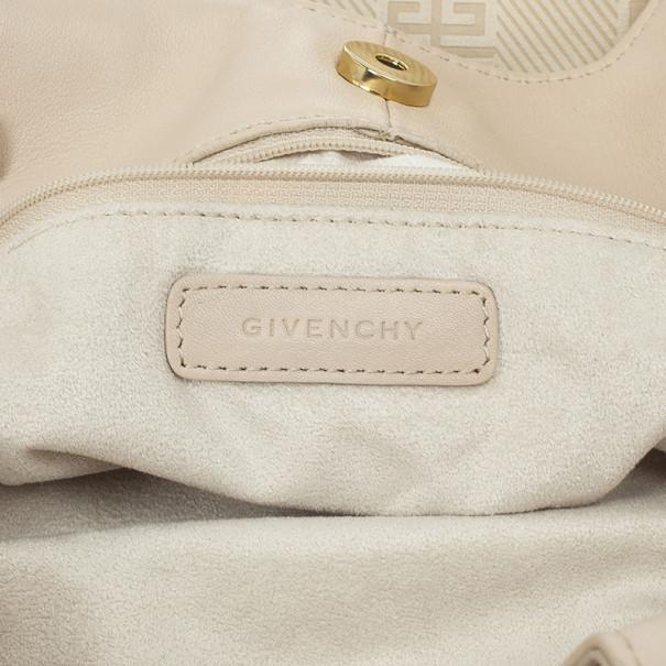 Givenchy Beige Monogram Canvas Hobo