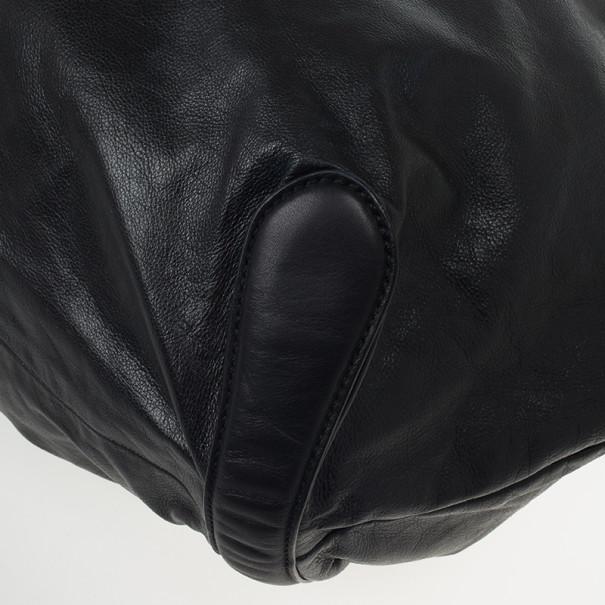Gucci Black Leather 'Galaxy' X-Large Shoulder Bag