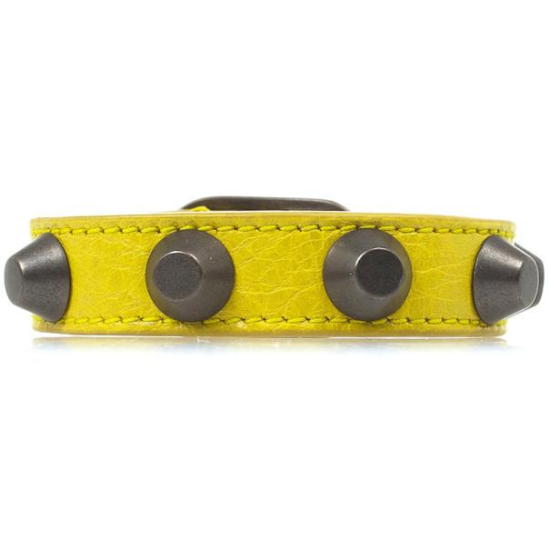 Balenciaga Yellow Classic Studded Bracelet