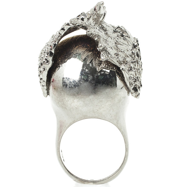 Alexander McQueen Wings Skull Cocktail Ring Size 53