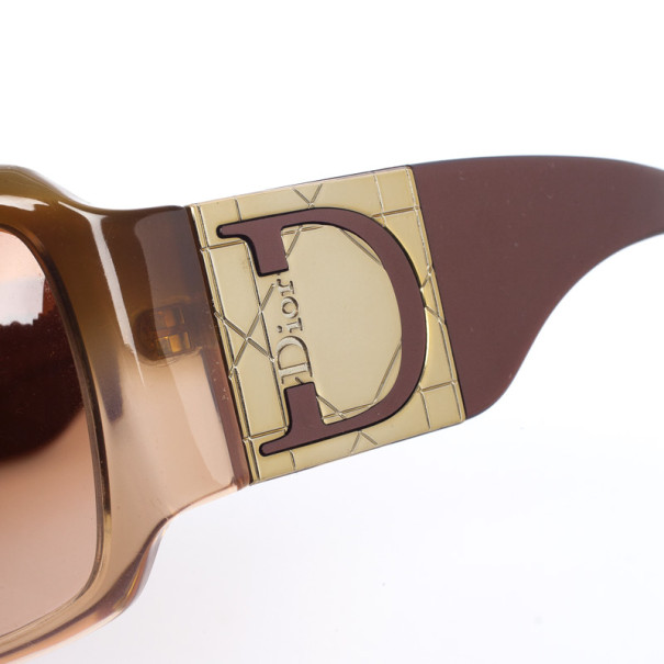 Dior Brown Shaded 1 Womens Sunglasses