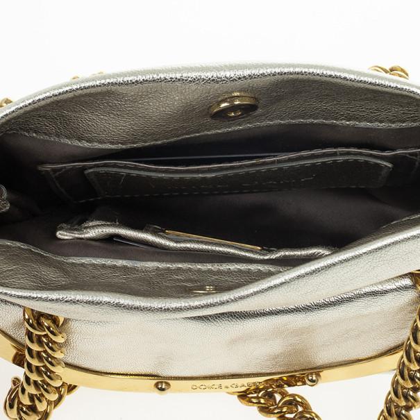 Dolce and Gabbana Silver Miss Camp Shoulder Bag
