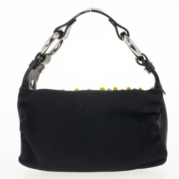 Chloe Black Beaded Shoulder Bag