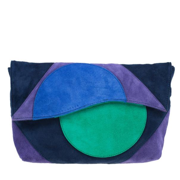 Marc by Marc Jacobs Multicolor Suede Etta Patchwork Clutch