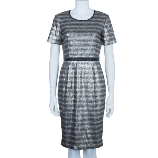 Burberry Sylvia Sequinned Satin Shift Dress S