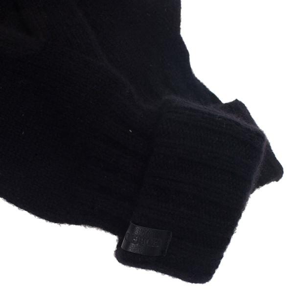 Giorgio Armani Black Cashmere Gloves S