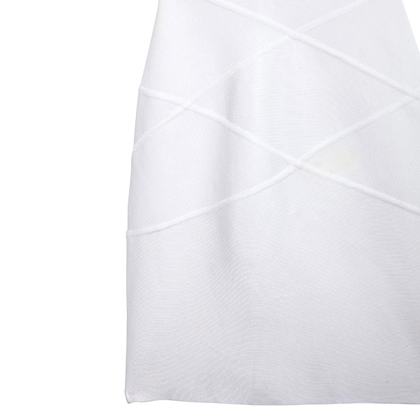 Herve L. Leroux White Bandage Dress S