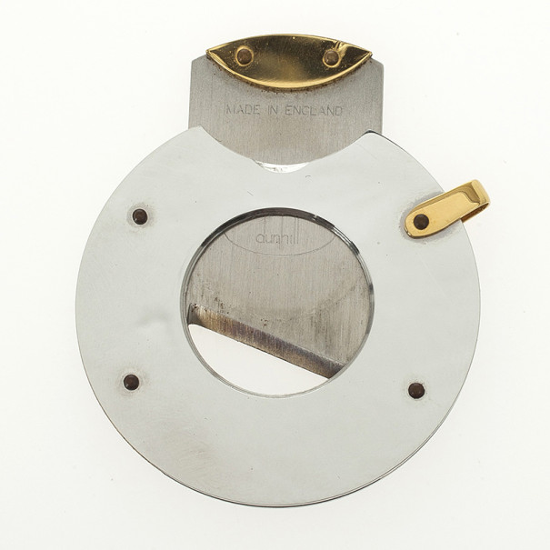 Dunhill Gold Plated Stainless Steel Guillotine Cigar Cutter