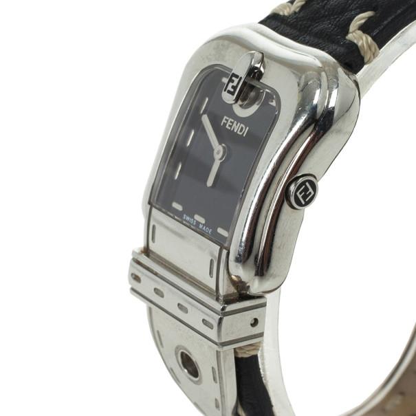 Fendi Black SS B Womens Wristwatch 35 MM