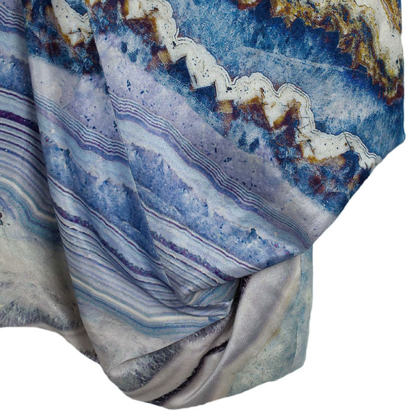 Alexander McQueen Agate-Print Silk-Satin Bustier Dress M