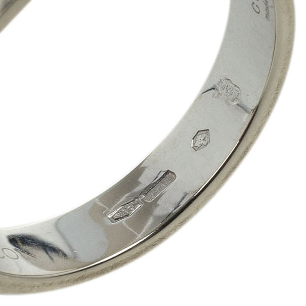 Gucci 18kt White Gold Icon Thin Band Size 56