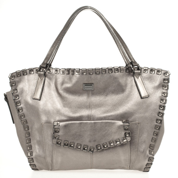 Burberry Metallic Leather Tote