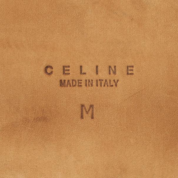Celine Black Leather Logo Studded Belt 93.5 CM