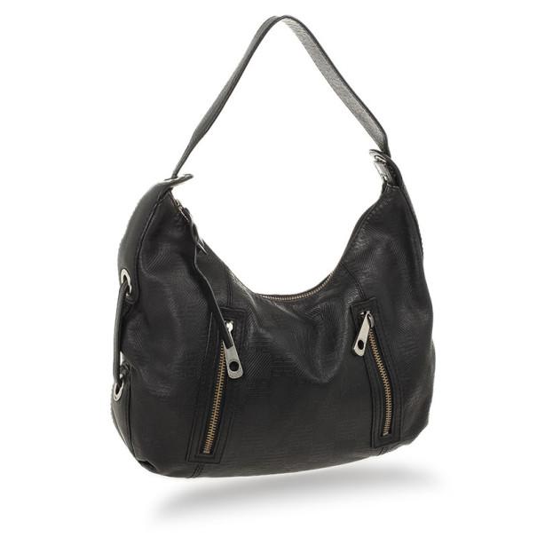 Givenchy Black Monogram Embossed Leather Hobo