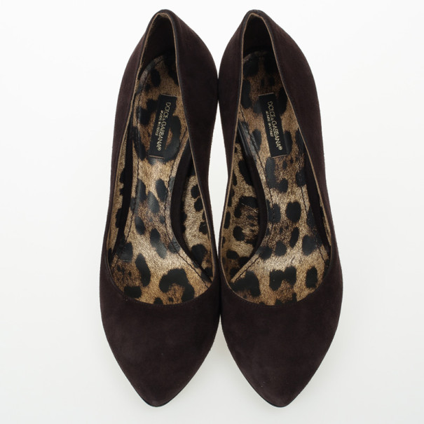 Dolce and Gabbana Brown Suede Pumps Size 37.5