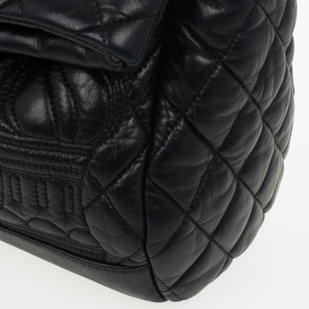 Chanel Black Lambskin Quilted Small Paris Moscou Red Square Bag