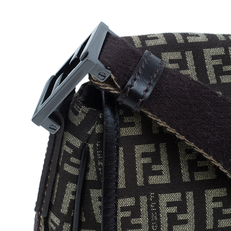 Fendi Brown Zucchino Crossbody Bag