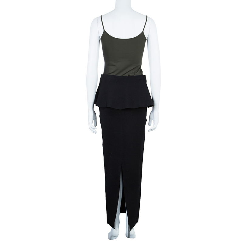 Issa Edith Peplum Maxi Skirt S