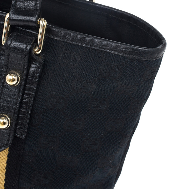 Gucci Black Monogram Jolicoeur Mini Tote