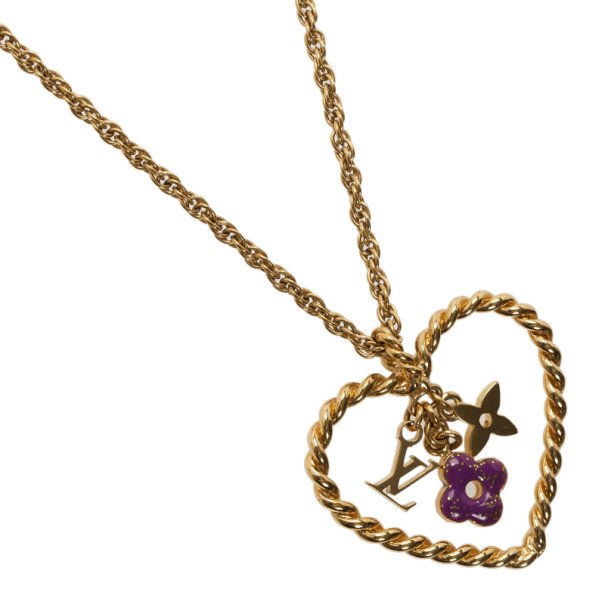 Louis Vuitton Sweet Monogram in my Heart Pendant Necklace
