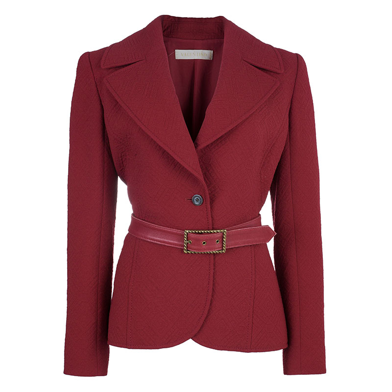 Valentino Red Quilted Jacket M