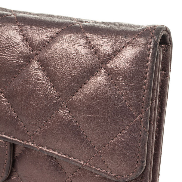 Chanel Quilted Lambskin Leather Long Flap Wallet