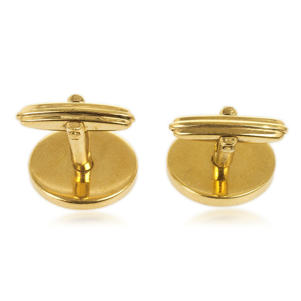 Dunhill Oval Gold Plated Cufflinks