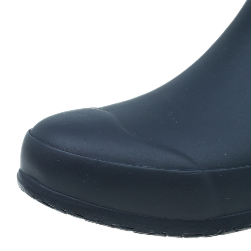 Burberry Canvas Check Rain Boots Size 38