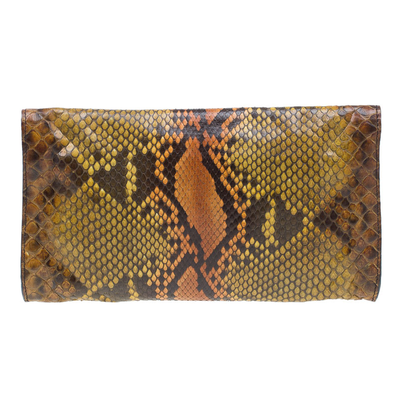 Gucci Multicolored Python Journal Clutch