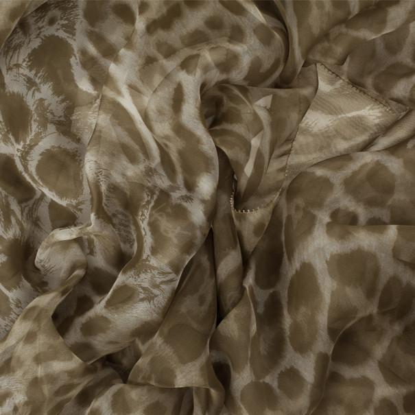 Saint Laurent Paris Leopard Print Scarf