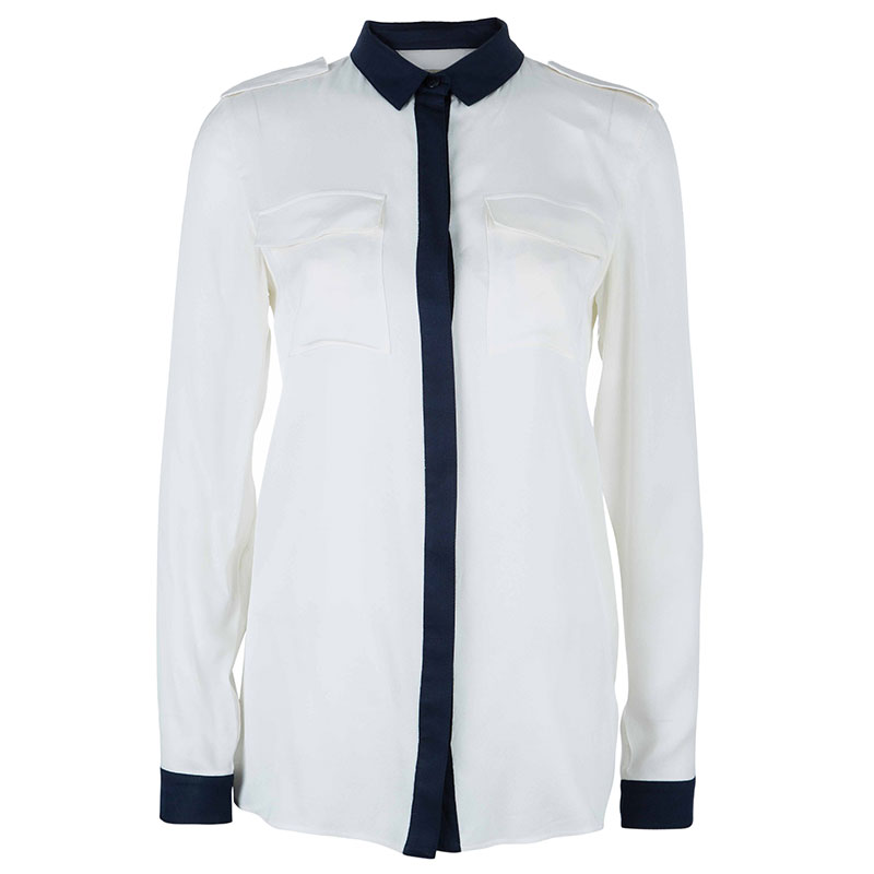 Burberry Colorblock Silk Shirt S
