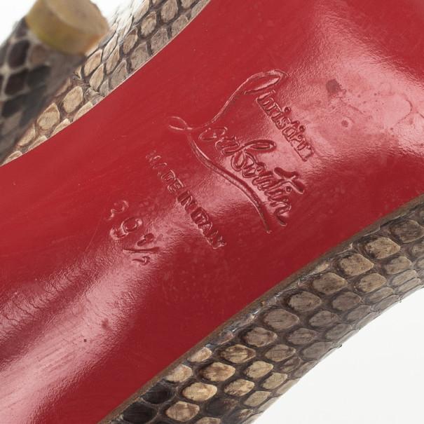 Christian Louboutin Roccia Python Lucido Fifi Pumps Size 39.5