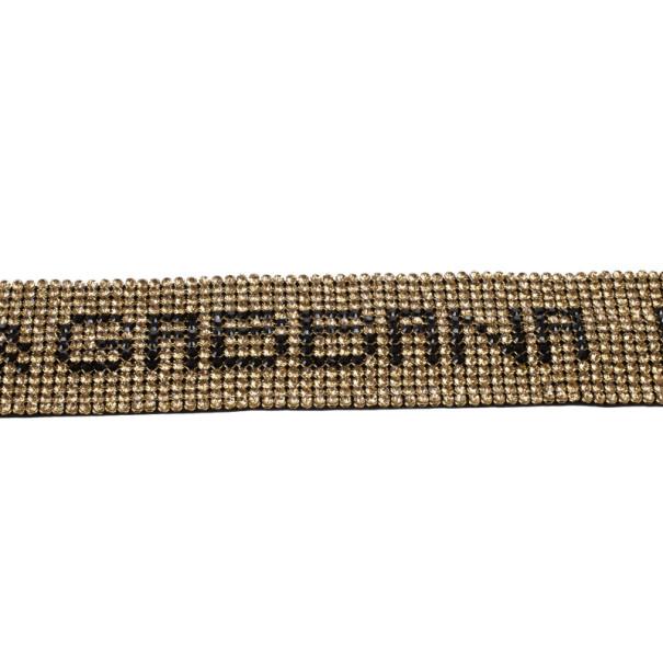 Dolce and Gabbana Swarovski Crystal Necklace Belt 185 CM