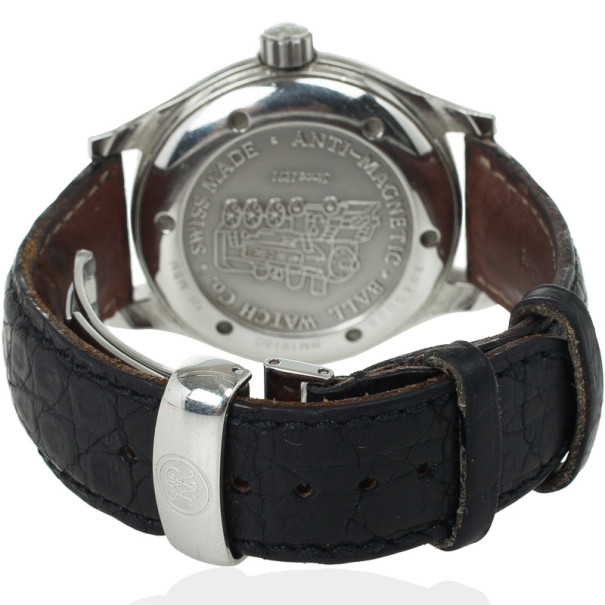 Ball Engineer II SS Leather Black Unisex Wristwatch 38 MM