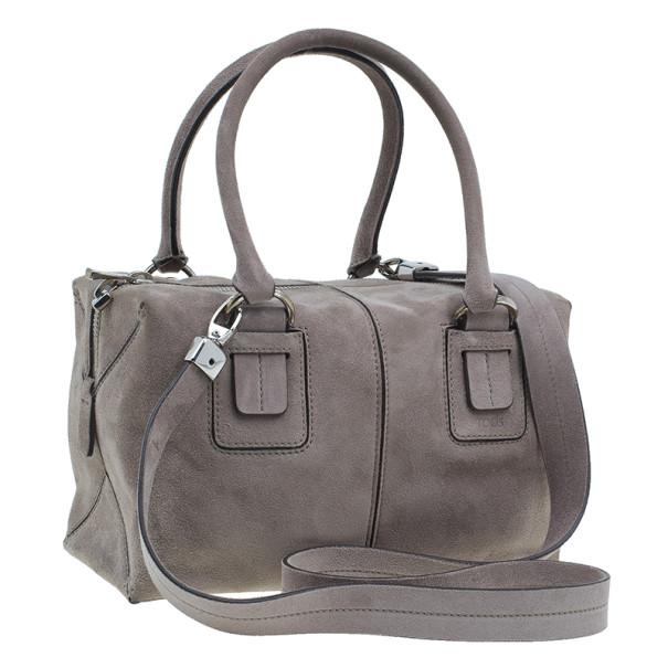 Tod's Grey Suede Box Bag