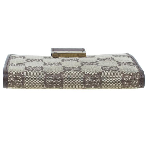 Gucci Brown Monogram Canvas Guccissima Bi Fold Wallet