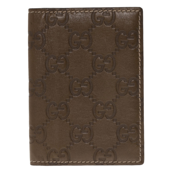 Gucci Brown Monogram Card Holder