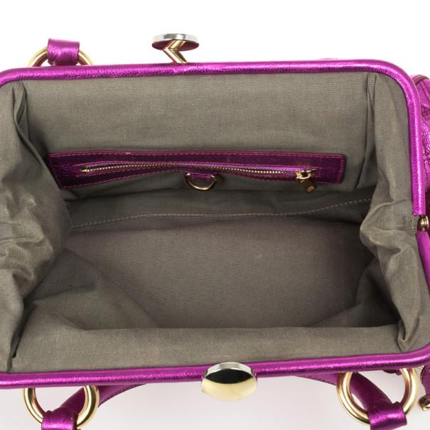 Marc Jacobs Metallic Leather Stam Bag