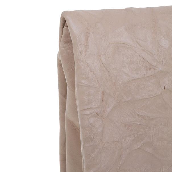 Jimmy Choo Pink Metallic Leather Chandra Embellished Clutch