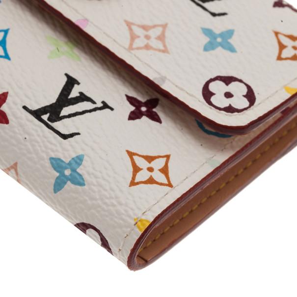 Louis Vuitton White Multicolor Monogram Card Holder