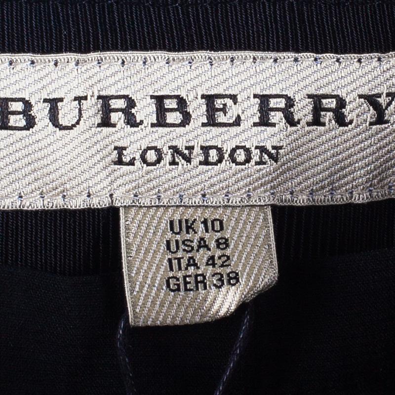 Burberry Black Textured Skirt M